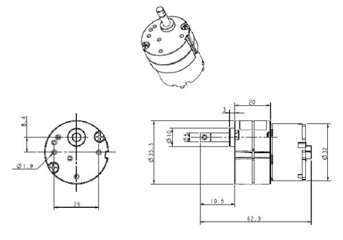 reduction gear 03 - gearbox series